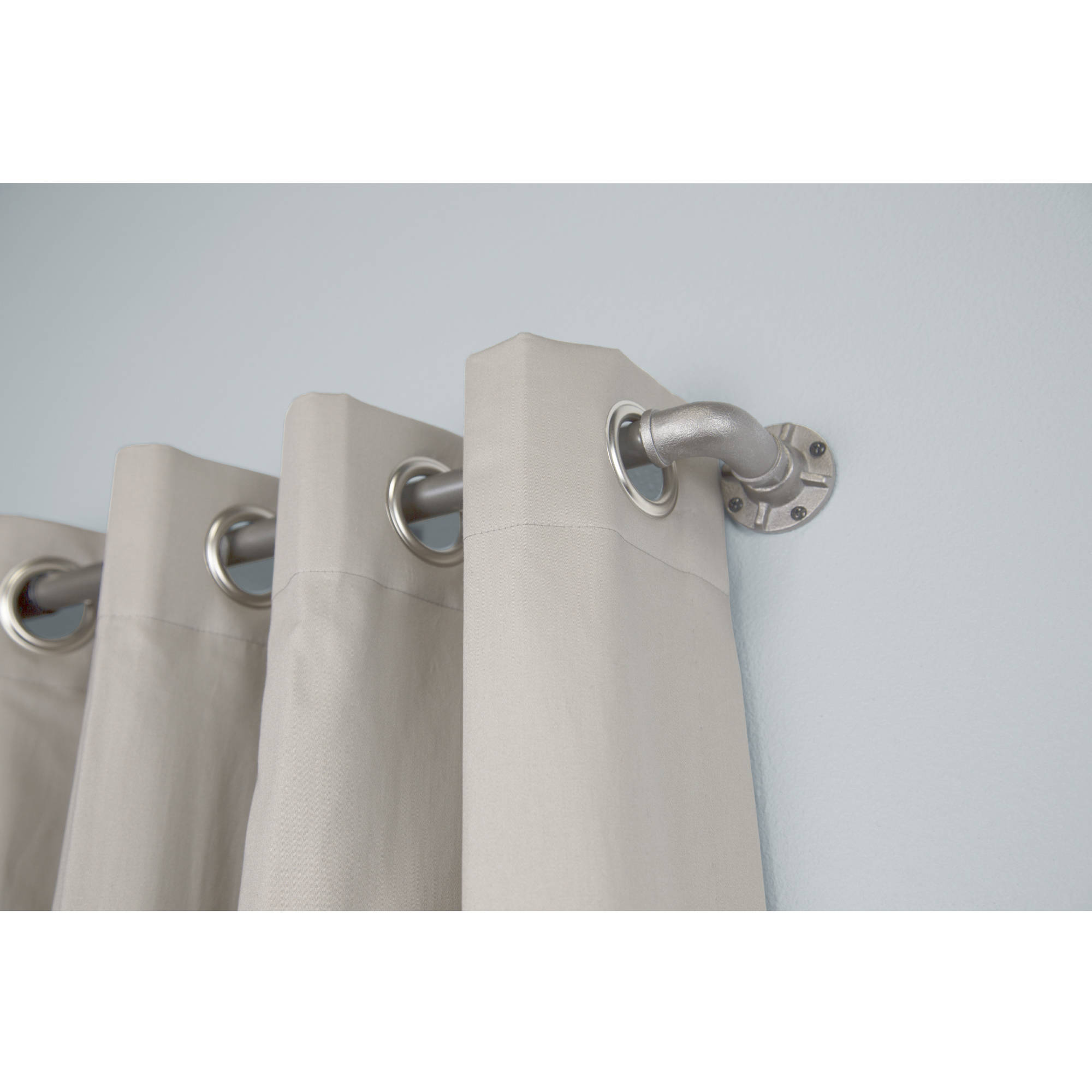 Bali 1 Industrial Curtain Rod Set 36 66 Or 120 Available In Multiple Colors