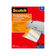 """Scotch Thermal Laminating Pouches 150 Count, 8.5"""" 11"""", 3 Mil Thick"""
