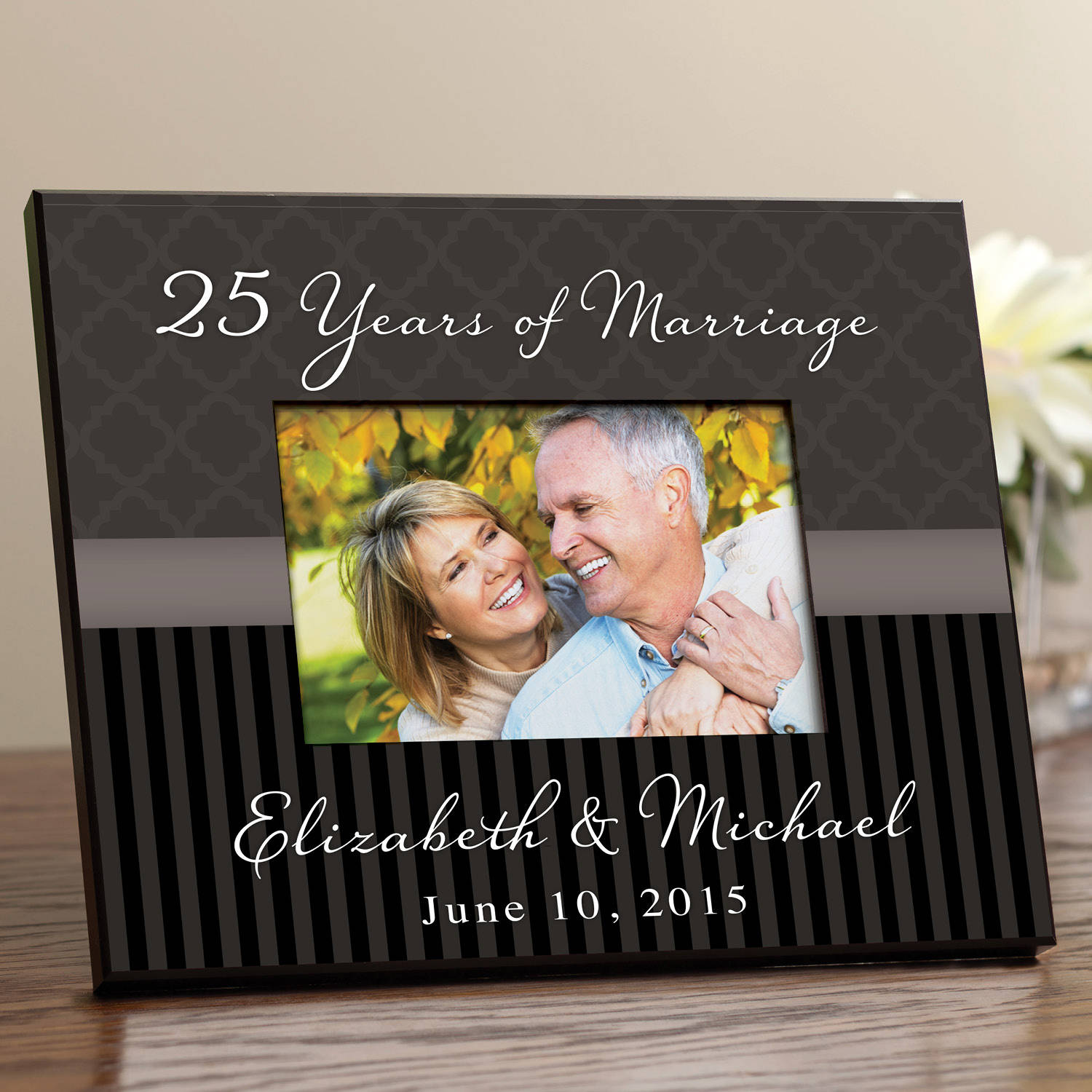 Personalized Happy Anniversary Frame