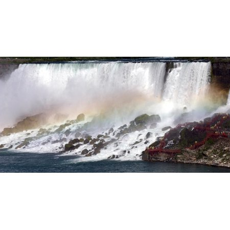 Canvas Print Rainbow Water Nature Tour Mist Niagara Falls Stretched Canvas 10 x (Tour Water)
