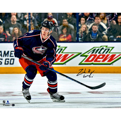 "Zach Werenski Columbus Blue Jackets Autographed 16"" x 20"" NHL Debut Skating Photograph No Size by Fanatics Authentic"