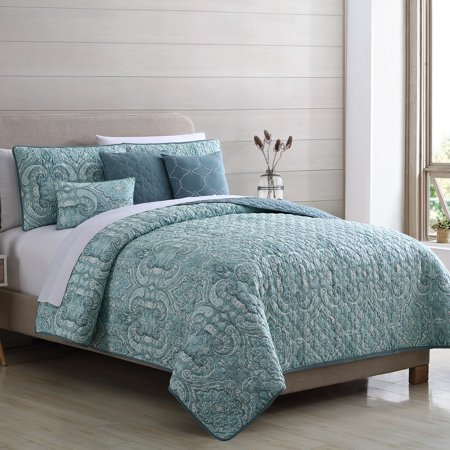 Sanctuary 6 Piece Reversible Quilt Set - Bali Queen ()
