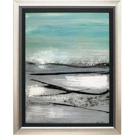 North American Art N1803 24 x 30 in. Beach II Framed Beach Landscape Art
