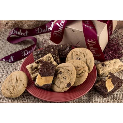 Dulcet Gift Baskets Dulcet's Festive Cookie and Brownie Gift Box