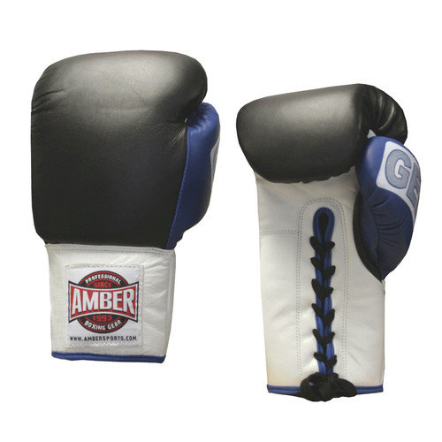 Amber Sporting Goods 12oz. Gel Training Gloves Laceup