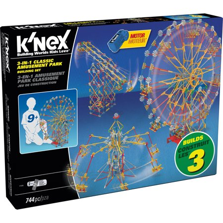 Knex Serpents - K'NEX Thrill Rides - 3-in-1 Classic Amusement Park Building Set - 744 Pieces - Ages 9 Engineering Education Toy