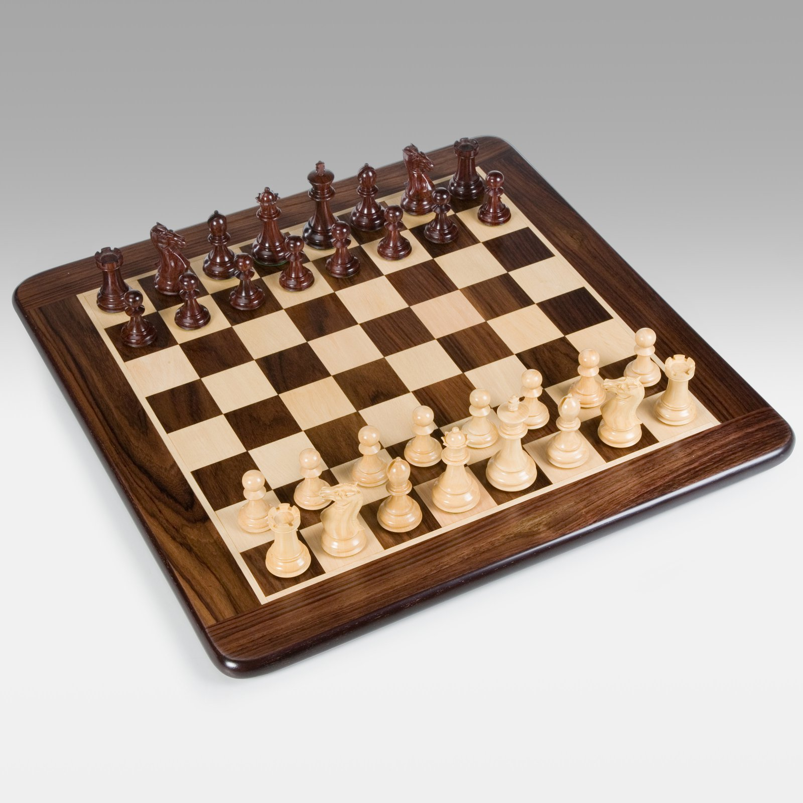 Grand Staunton Rosewood Chess Set, Weighted Pieces and Ro...
