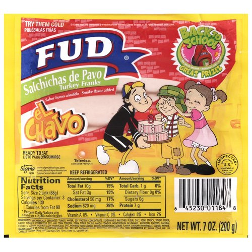Fud Turkey Franks, 7 oz
