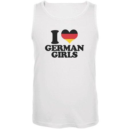 Oktoberfest I Heart German Girls White Adult Tank Top (Oktoberfest Girls)