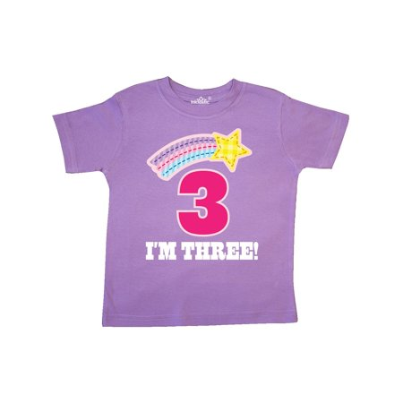 3rd Birthday 3 Year Old Girls Rainbow Star Toddler