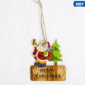 Fancyleo 6Pcs DIY Wooden Pendants Ornaments Christmas Wood Crafts Xmas Tree Decorations Home Decor Christmas Party Decorations Kids Gift (Diy Christmas Gift Ideas)