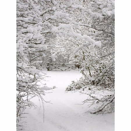 3x5FT Winter Snow Forest Photo Studio Props Photography Backdrop Background Vinyl - Winter Photo Props