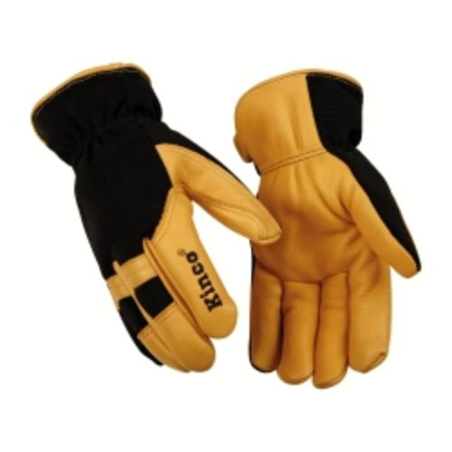 101HKL Cold Weather Gloves, Deerskin Palm, Spandex Back, Easy-on Cuff, Heatkeep Thermal Lining, Large