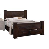 Acme Furniture Panang Eastern King Storage Bed, Mahogany