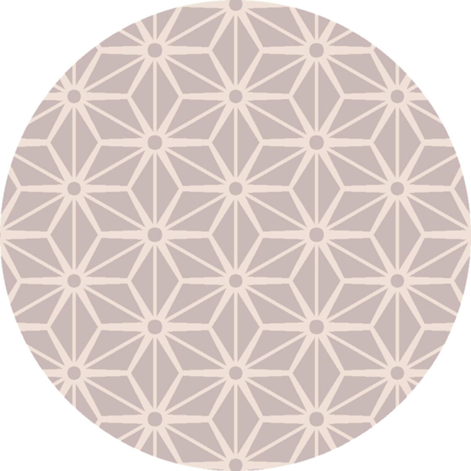 8' Shimmering Star Light Gray and White Hand Woven Wool Round Area Throw Rug