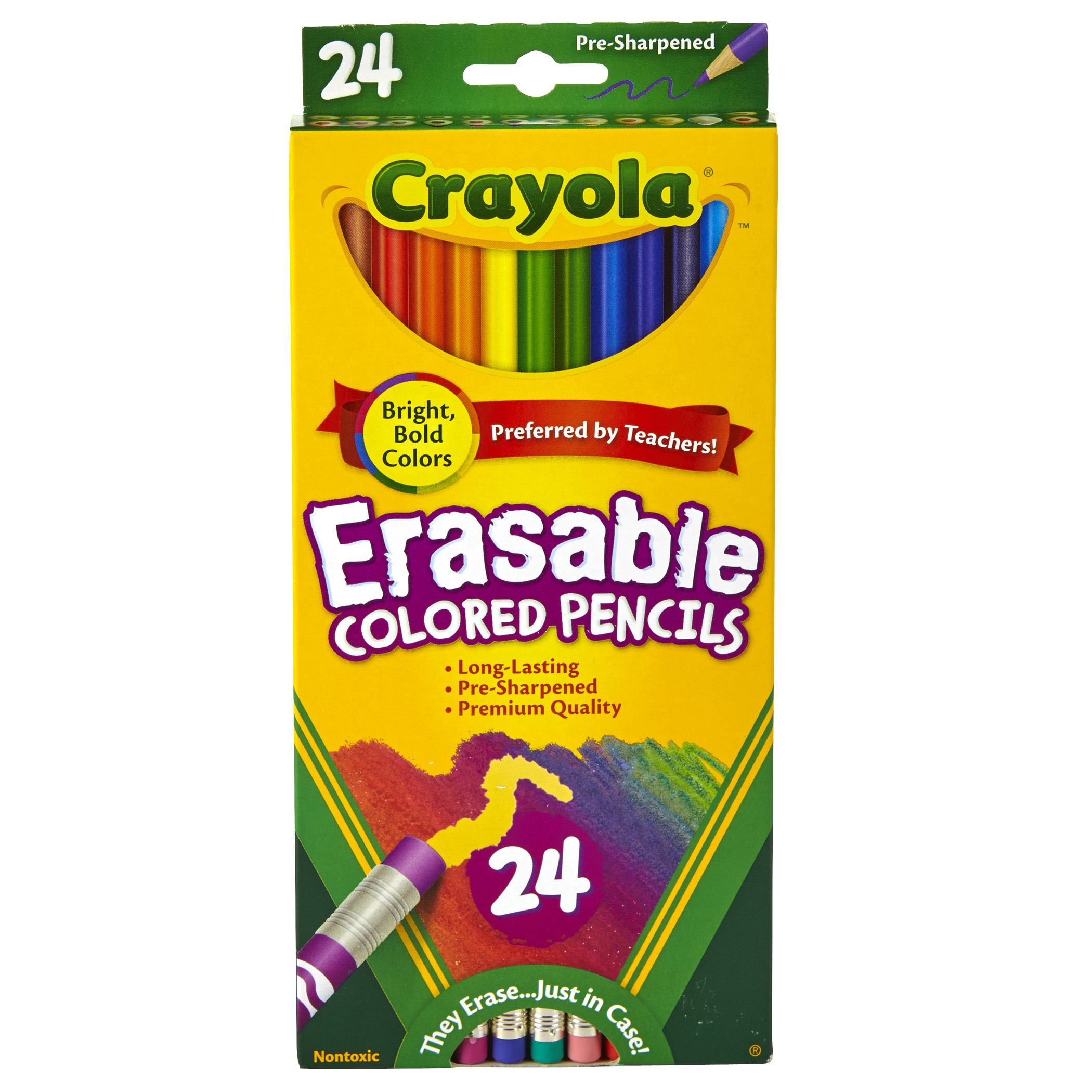 Crayola® Erasable Colored Pencils, 24 colors per box, Set of 3 boxes