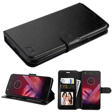 Motorola Moto Z3 / Moto Z3 Play - Premium PU Leather Flip Wallet Case Cover Stand Folio Pouch Book Magnetic Buckle