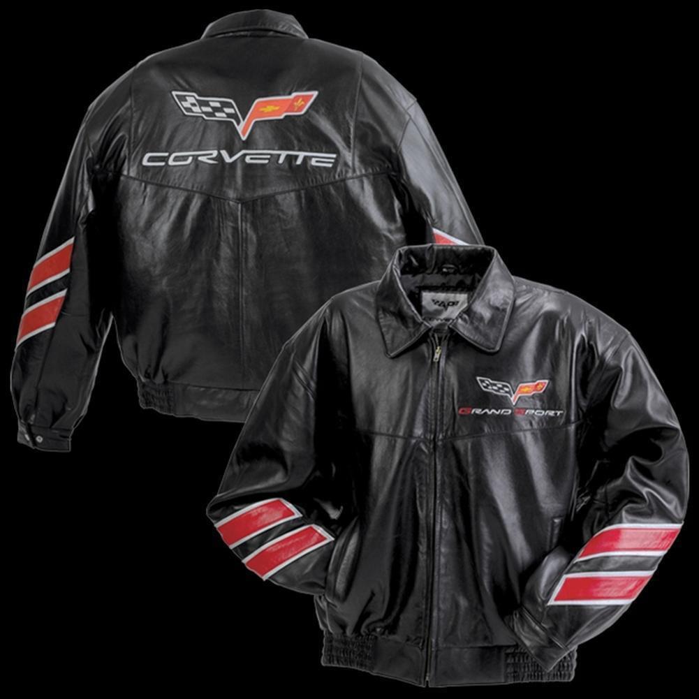 Corvette Grand Sport Leather Jacket - Black : 2010-2013 G...