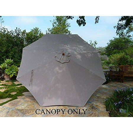 Formosa Covers Replacement Umbrella Canopy For 11ft 8 Ribs Taupe