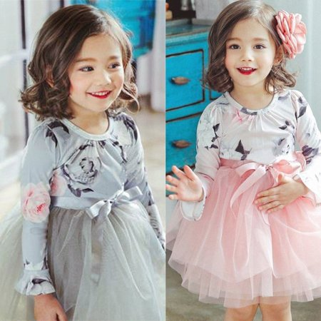 Toddler Baby Flower Girls Princess Bow Dress Wedding Party Pageant Chiffon Dress](Chiffon Bows)
