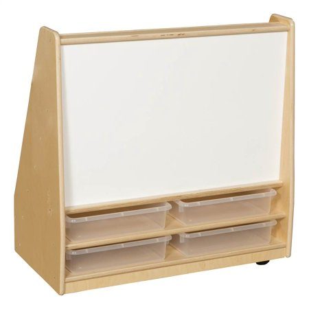 Literature Trays (Book Storage & Display with Markerboard, (4) 3