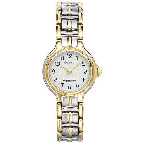 Carriage by Timex Women's Chelsea Watch, Two-Tone Stainless Steel Jewelry Bracelet