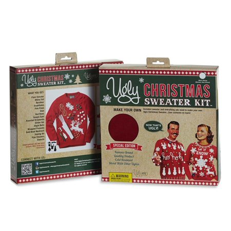 Make Your Own Ugly Christmas Sweater Red Sweater Kit