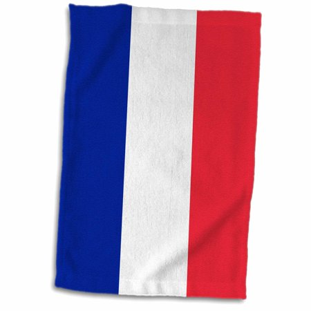 3dRose Flag of France - Blue white and red stripes French tricolore - European Europe country world flags - Towel, 15 by 22-inch ()