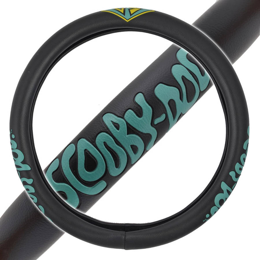 "Scooby-Doo Steering Wheel Cover, Premium Synthetic Leather Standard Size 14.5""-15.5"""