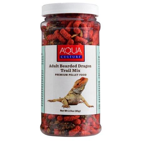 Aqua Culture Adult Bearded Dragon Trail Mix Premium Pellet Food, 2.9 (Iguana Bearded Dragon)
