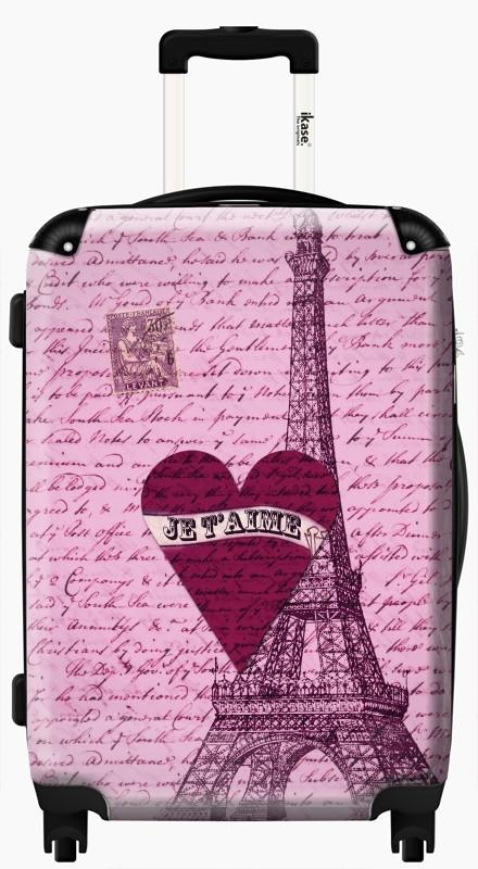 Ikase Hardside Spinner Luggage Paris I love you!