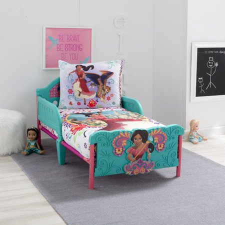 Disney Elena of Avalor Bold and Brave 4 Piece Toddler Bedding Set,