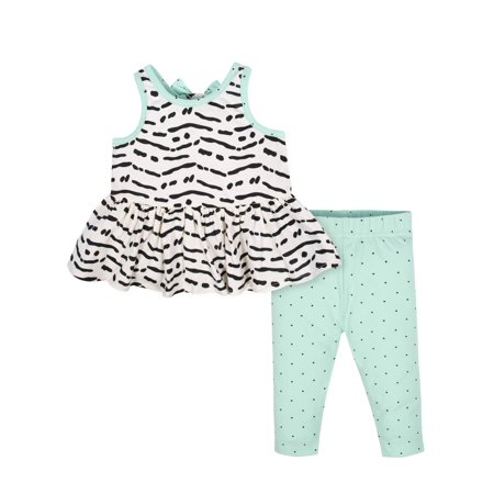 7703fbf3f010d Sleeveless Tunic with Bow and Leggings, 2pc Outfit Set (Baby Girls)