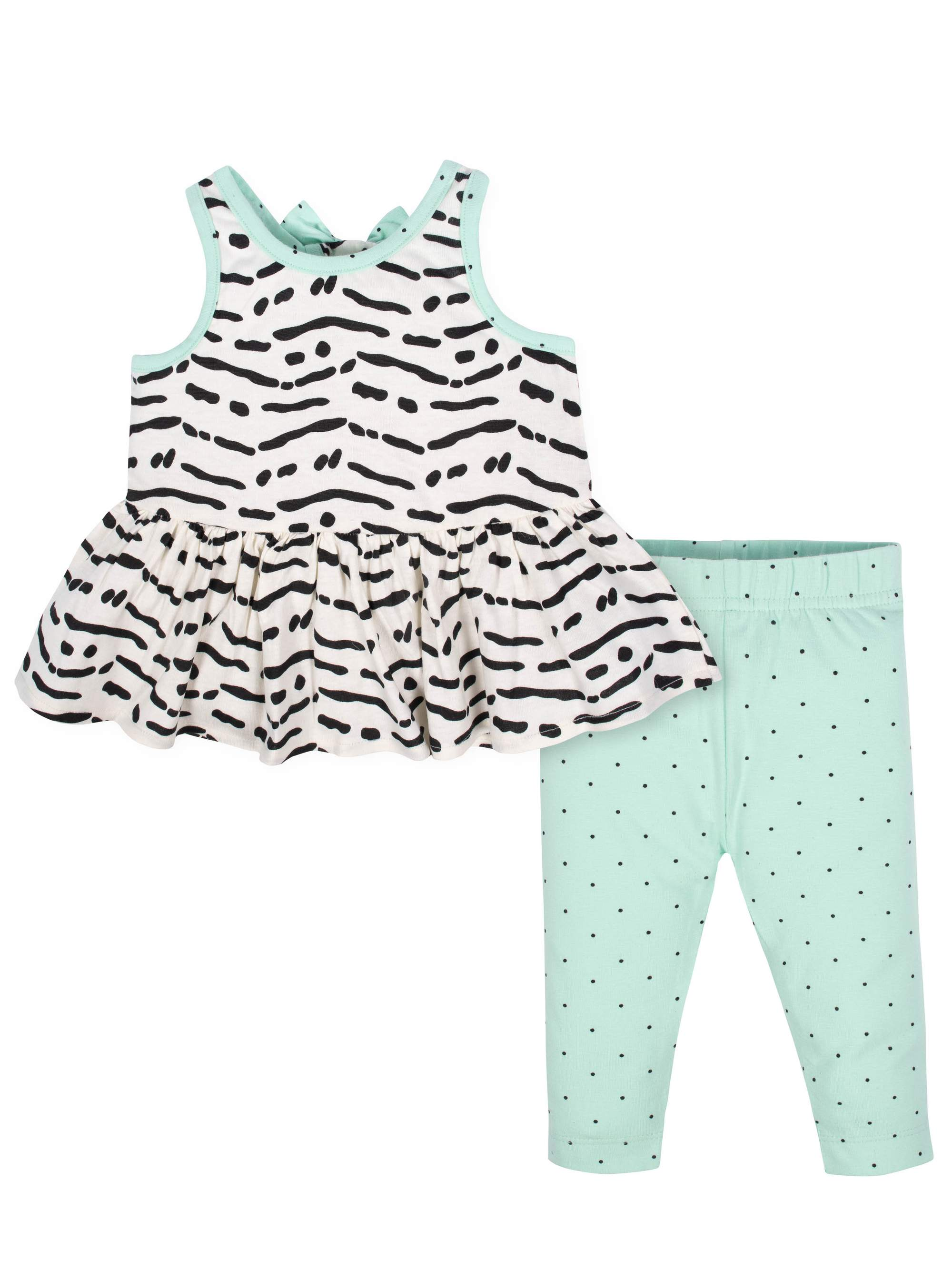 Sleeveless Tunic with Bow and Leggings, 2pc Outfit Set (Baby Girls)