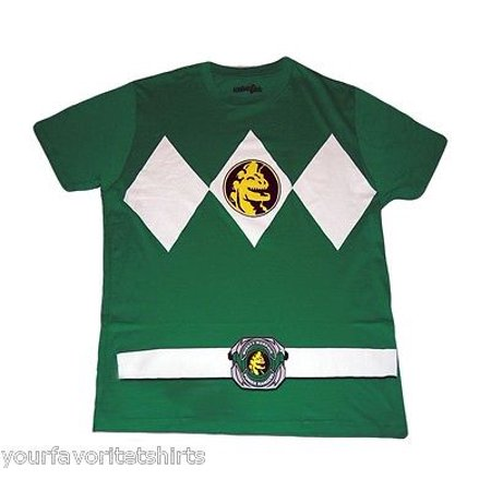 Power Rangers Green Ranger Costume Adult Green - Show And Tell Halloween