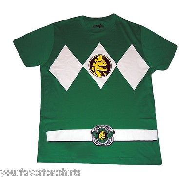 Power Rangers Green Ranger Costume Adult Green T-Shirt