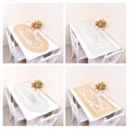 Simple Waterproof Rectangular Hollowing Anti-scald Table Cover - image 4 de 8