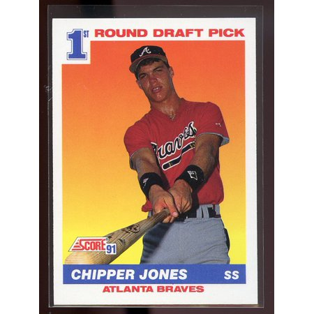 1991 Score 671 Chipper Jones Atlanta Braves Rookie Card