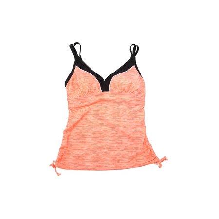 Colorblock Tankini (Gerry Womens Size Small V-Neck Colorblock Tankini 1-Piece Swim Top, Sherbert )