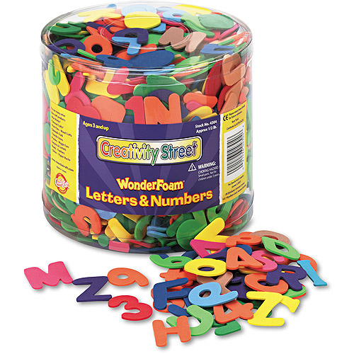 Creativity Street WonderFoam Letters and Numbers, 1/2 lb Tub, Approximately 1,500 Pieces