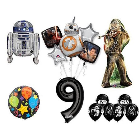 The Ultimate Star Wars 9th Birthday Party Supplies and Balloon (9th Birthday Stars)