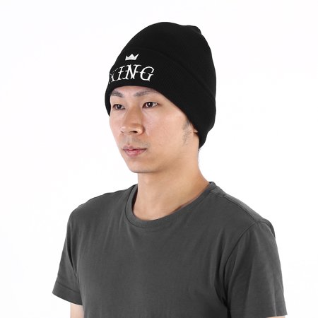 Yosoo 4Types Men Women Embroidery KING QUEEN Letters Couple Knitted Acrylic Warm Hat Cap, Winter Hat, Hat,Warm Cap - image 1 of 7