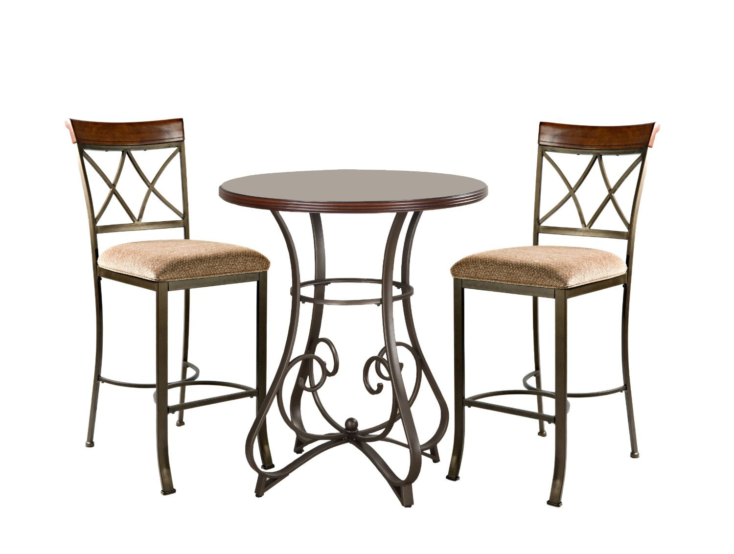 Powell 3 Piece Hamilton Pub Set, Cherry (Table And 2 Bar Stools)