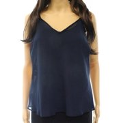 Valette NEW Blue Teal Steel Women's Size Medium M V-Neck Cami Blouse