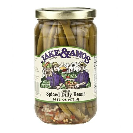 Jake & Amos Spiced Dilly Beans 16 oz. (3 Jars)