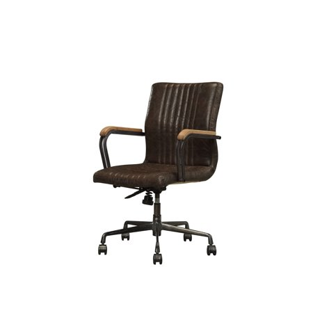 Acme Joslin Executive Office Chair In Distressed Chocolate