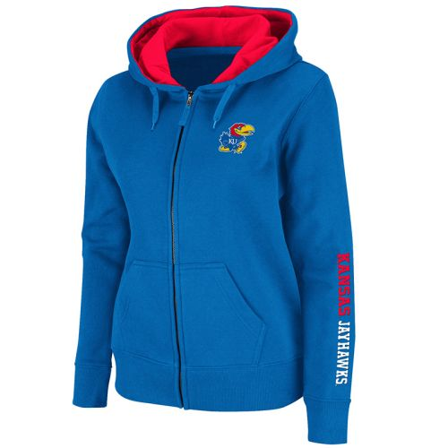 Kansas Jayhawks Women's Full Zip Titan Fleece Hooded Sweatshirts