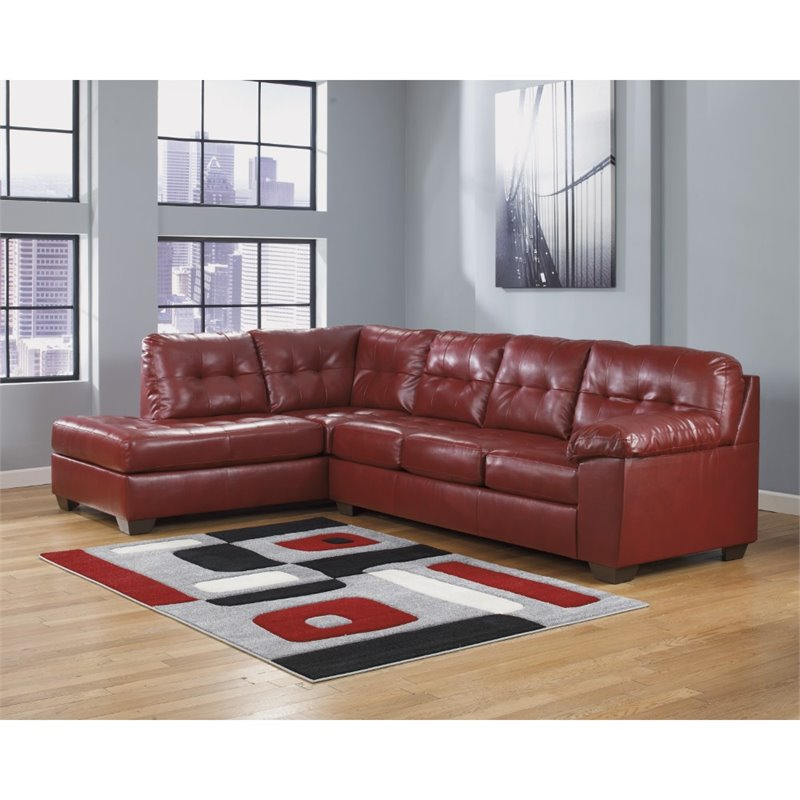 Bowery Hill L-Shape Dura Sectional In Salsa