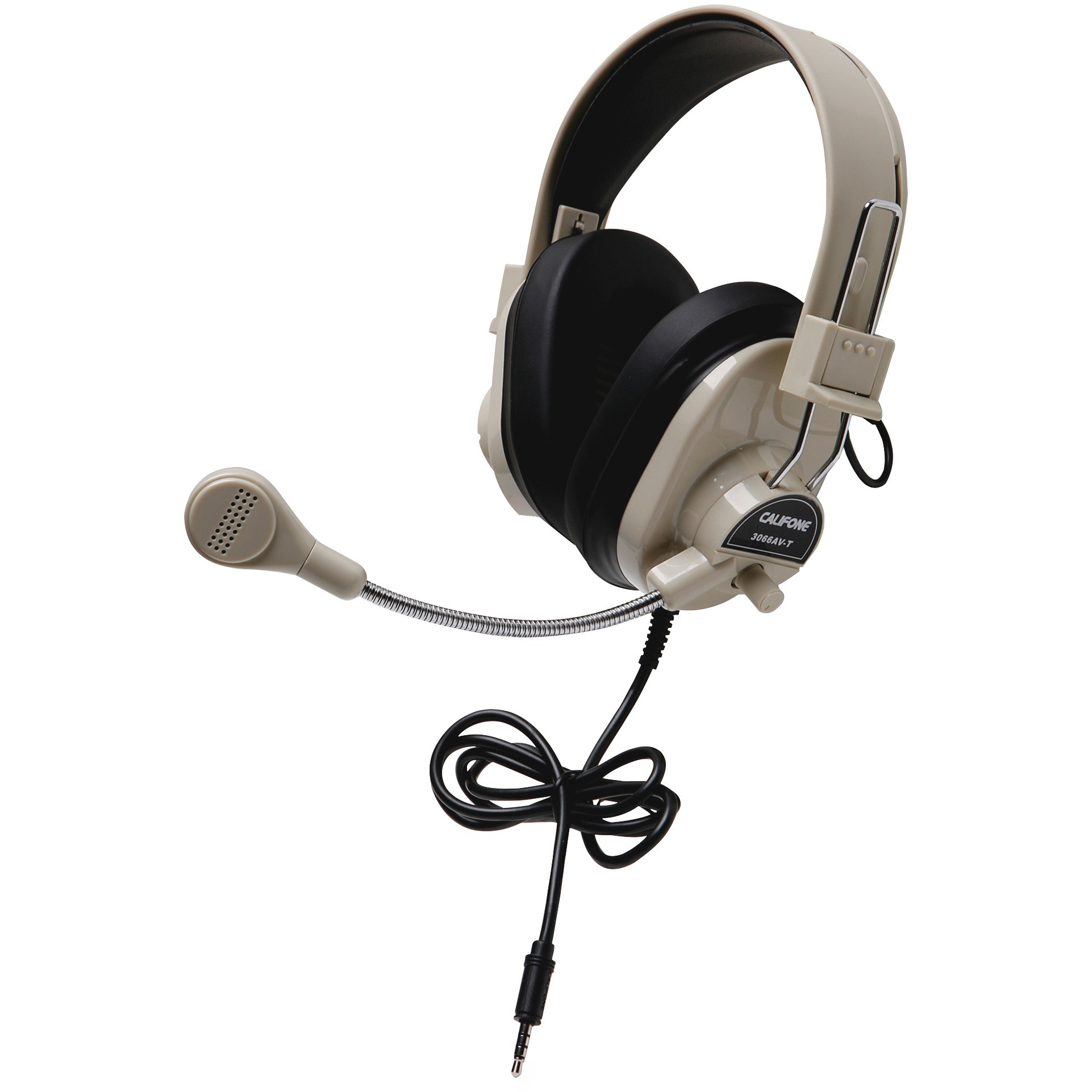 Califone, CII3066AVT, Deluxe Stereo Headset With To Go Plug, 1, Black