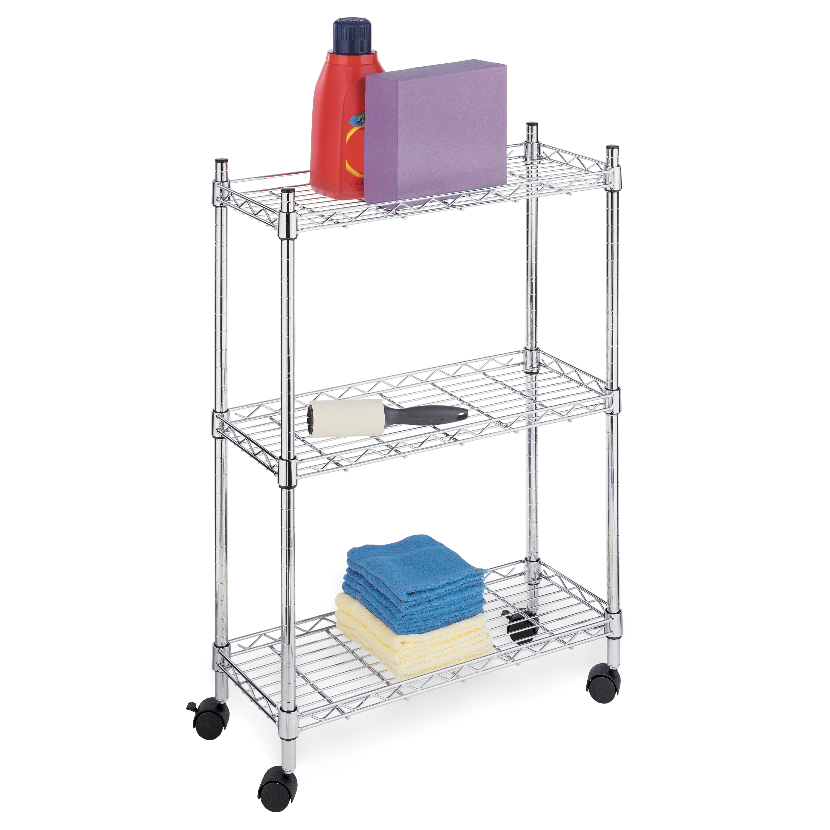 Whitmor 6056-53 Chrome 3 Tier Supreme Laundry Cart
